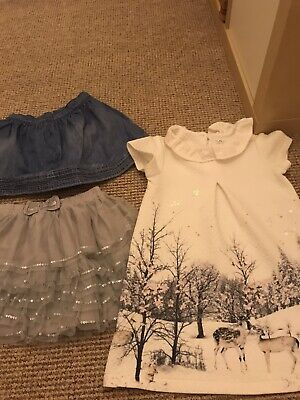 Girls Hudge Bundle Age 4-5 Outfit Dress, Skirt, Jumper, Tights , Hoodie Etc