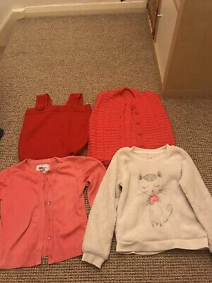 Girls Clothes Bundle 6-7- 8 yrs old Mixed Items Jumper, Dress, Cardigan, Joggers