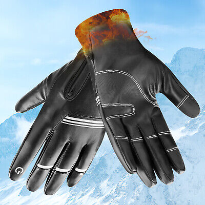 Fingerless Winter Gloves Half Finger Hand Men Women Warm Windproof Work Mittens