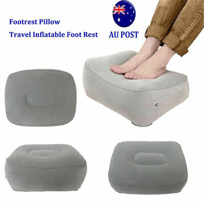 AU Inflatable Foot Rest Travel Air Pillow Cushion Office Leg Up Footrest I