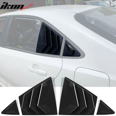 Fits 20-21 Toyota Corolla Side Scoop Window Louver Sun Shade 4PC Matte Black