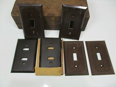 Lot of 6 ANTIQUE Vintage BAKELITE ASSORTED Switch Covers Plates CM122