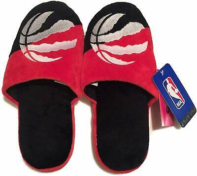 Men's Toronto Raptors NBA Basketball Plush Big Logo Soft Slipper 2.0 Pair