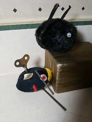 RARE Antique Schuco Mikitex German & Japan Wind Up Mouse Toy works
