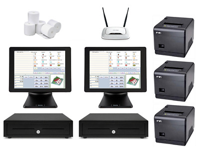 Restaurant POS System with two SAM4S POS Terminals Bundle #103