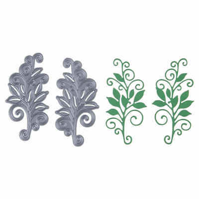 2pcs Flower Tree Metal Cutting Die For DIY Scrapbooking Album Paper Cards FR