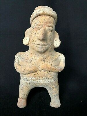 Pre-Columbian Colima Standing Figure, 100 BC - 250 AD. FREE SHIPPING