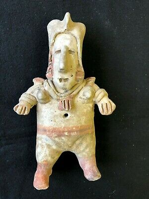 Pre-Columbian Jalisco Standing Female Figure, 100 BC - 250 AD. FREE SHIPPING