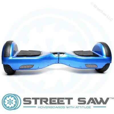 StreetSaw DailySaw 6.5 Inch Electric Scooter w/Bluetooth LED Electroplate Blue