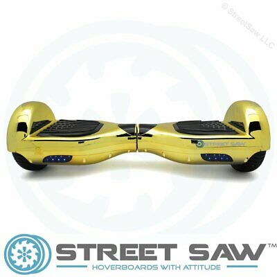StreetSaw DailySaw 6.5 Inch Electric Scooter w/Bluetooth LED Electroplate Gold