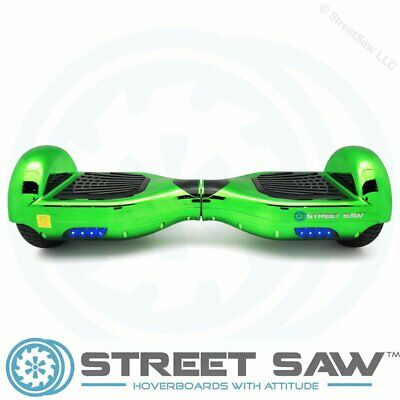 StreetSaw DailySaw 6.5 Inch Electric Scooter w/Bluetooth LED Electroplate Green