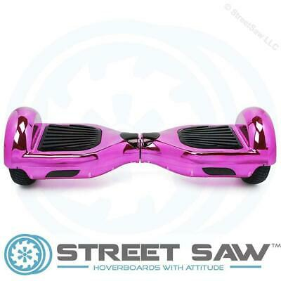 StreetSaw DailySaw 6.5 Inch Electric Scooter w/Bluetooth LED Electroplate Pink