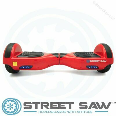 StreetSaw DailySaw 6.5 Inch Electric Scooter w/Bluetooth LED Red