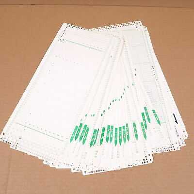 Lot of 21 Brother Pre-Punched Knitting Machine Mylar Design Pattern Cards