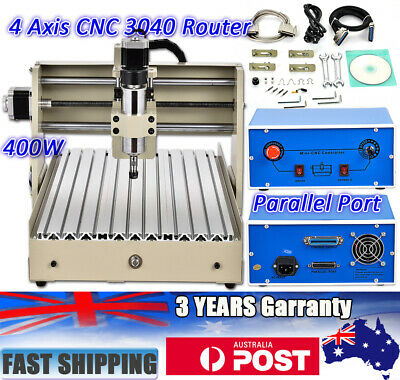 4 Axis CNC 3040 Router Desktop Engraving&Cutting Machine 3D Cutter Engraver 400W