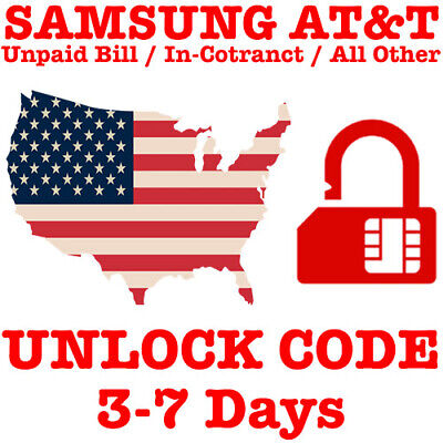 AT&T CRICKET XFINITY UNLOCK CODE SAMSUNG GALAXY S10 S10+ Plus S9 S8 Note 9 8