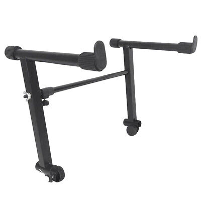 Adjustable Black Heightening Electronic Piano Rack Stand Keyboard Support H V4L6