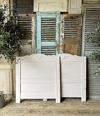 Pretty French Handpainted Sleigh Bed frame