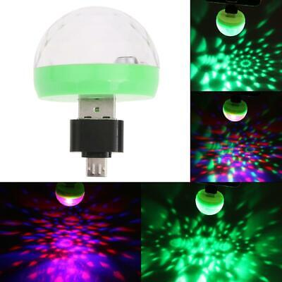 Mini Disco Party DJ Home LED RGB Stage Car Light Lamp Laser Crystal Magic Ball