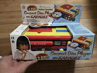 Vintage Battery Operated Kids Toy CD Compact Disc Player ~ 44 Songs