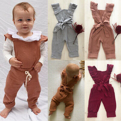 UK Newborn Baby Girl Boy Kids Winter Clothes Set Knitted Romper Jumpsuit Outfit