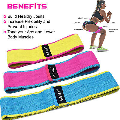 Fabric Resistance Bands Booty Glutes Hip Circles Leg Squat Non Slip Fitness Band