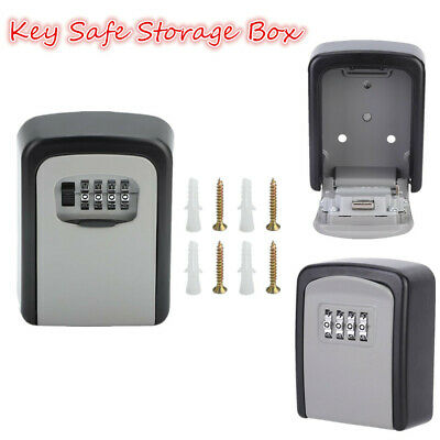 4 Digit Wall Mounted Key Safe Key Box Secure Lock Storage Safety Key Outdoor