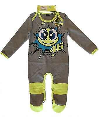 OFFICIAL VR46 BABY GROW SUIT OVERALL Pop Art Grey Valentino Rossi Merchandise