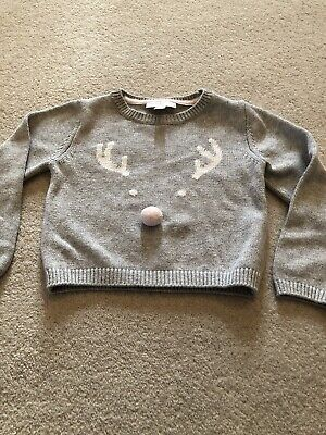 Little White Company Age 2-3 Reindeer Nose Jumper