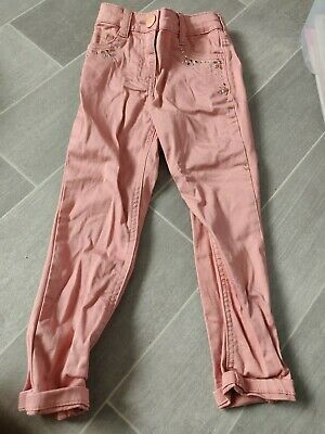 Next Girls Pink Sparkle Jeans Skinny Fit 4 Years (3-4 Years)