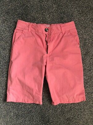 Next Shorts Age 10 Boys Pink Chinos