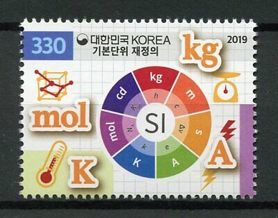 South Korea Stamps 2019 MNH Redefinition Metric System SI Units Science 1v Set