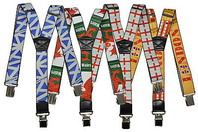Braces/Suspenders for All Ages, Y-Shape with Country Designs (Kids/Junior/Adult)