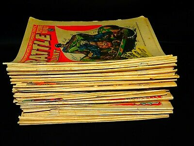 Vintage 1977 Battle Picture Weekly war comics 51 issues - 1 Missing 06/08/77 ,