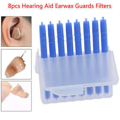 8Pcs Disposable Hearing Aid Protection Earwax Guards Filters Hearing AssistanWR