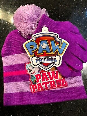 Nickelodeon Paw Patrol Hat and Glove Set Toddler/Child NWT Spin Masters