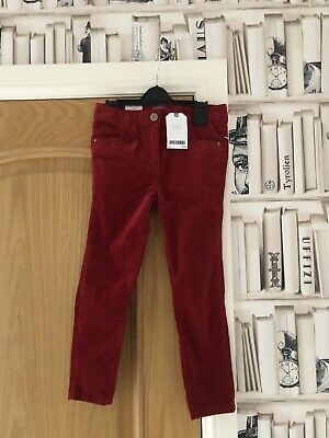 Girls Next Red Velvet Trousers Age 6 Years