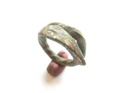IRON AGE Hallstatt Culture - ANCIENT Celtic Silver Coiled Snake > PROTO MONEY