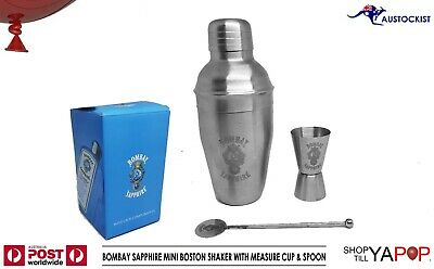 BOMBAY Sapphire GIN COCKTAIL KIT BOSTON SHAKER WITH MEASURE CUP & SPOON BNIB