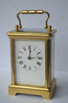 Couaillet Freres Paris antique Carriage Clock Cylinder Working late 1800s French