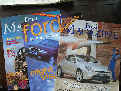 Ford Magazines : Spring and Autumn 1997 and Spring 1996.