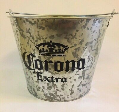 Brand New Galvanised Corona Extra Beer Drink Bucket Barware Ice Bucket Cooler