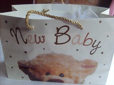 New Born Baby Gift Bag in White 0 -3 months