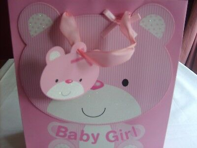 New Born Baby Gift Bag in Pink 0 - 3 Months