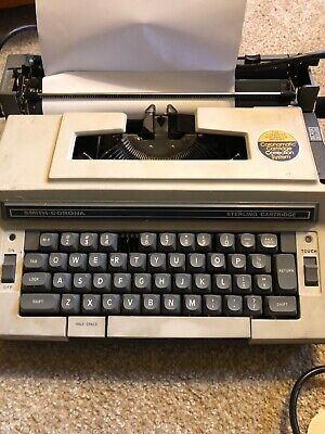 Smith-Corona Electra XT 3L Portable Working  Electric Typewriter w/ Hard Case