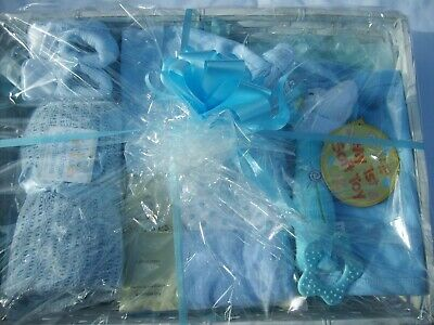 Small New Born Baby Gift basket in Blue.