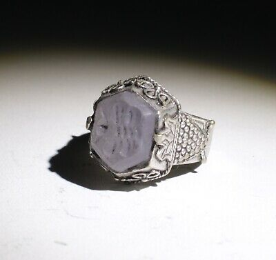 Quality Post Medieval Silver  Intaglio Ring    211