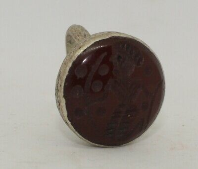 Quality Post Medieval Silver  Intaglio Ring    1235