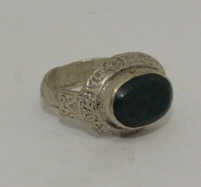 Quality Post Medieval Silver  Intaglio Ring    355