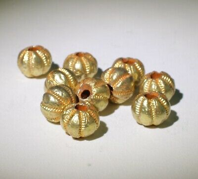 10 X Post Medieval Gold Beads - 122